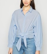 New Look Stripe Puff Sleeve Tie Front Shirt