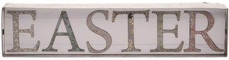 Transpac Wood 16 in. White Easter Easter Word Block DAcor