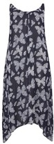 Evans Plus Size Women's Butterfly Print Handkerchief Hem Maxi Dress