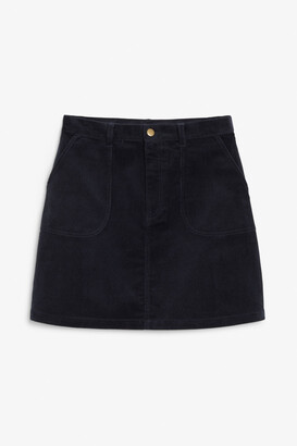 Monki A-line cord mini skirt