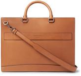 Ermenegildo Zegna Libro Leather Briefcase - Tan