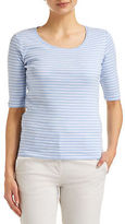 Sportscraft NEW WOMENS Heidi 1/2 Sleeve Stripe Tee Tops & Blouses