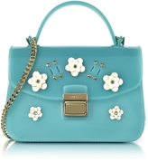 Furla Candy Lilla Turquoise Jelly Rubber Mini Bag