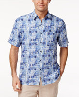 Tasso Elba Men's Brushstroke Silk & Linen Blend Shirt, Only at Macy's