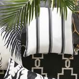 Williams-Sonoma Williams Sonoma Outdoor Printed Salinas Stripe Pillow, Black