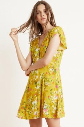 Velvet by Graham & Spencer Kirstan Floral Challis Short Sleeve Button-Up Dress