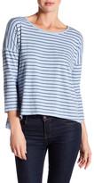 Velvet by Graham & Spencer 3/4 Lenght Sleeve Striped Shirt