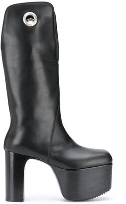 Rick Owens Eyelet Platform Boots