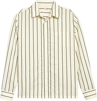 Sunflower Type Stripe Button-Up Shirt