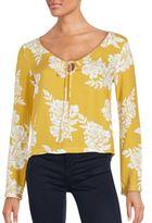 MinkPink Long Sleeve Floral Top