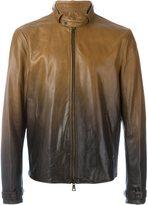John Varvatos gradient leather jacket
