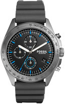 Fossil Men's Chronograph Sport 54 Gray Silicone Strap Watch 44mm CH3063