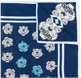 Kenzo multi tiger print scarf