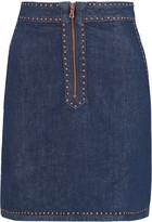 Sandro Jones studded denim mini skirt