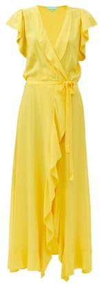 Melissa Odabash Brianna Ruffled Maxi Wrap Dress - Yellow