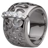 Alvina - ZR 3577 Fantasy Ring-Women's Rhodium-Plated Silver Charm with White Cubic Zirconia - 925/1000 silver