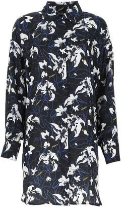 Marcelo Burlon County of Milan Floral Print Oversized Shirt