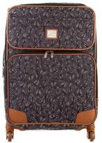 Diane von Furstenberg Leather-Trimmed Jacquard Suitcase