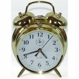 Acctim Saxon Large Double Bell Alarm Clock Brass by