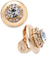 Charter Club Gold-Tone Crystal Clip-On Stud Earrings, Only at Macy's