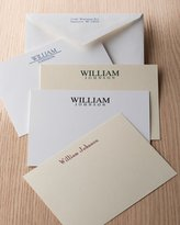 Carlson Craft 50 Masculine Correspondence Cards with Personalized Envelopes
