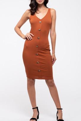 Blu Pepper Button-Down Sleeveless Knit Dress