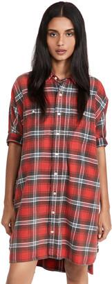 R 13 Plaid Oversized Boxy Shirtdress