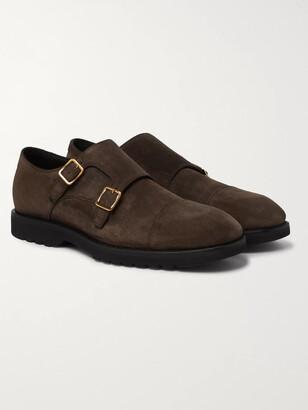 Tom Ford Kensington Suede Monk-Strap Shoes