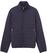 Jigsaw Square Quilted Blouson Jacket, Navy