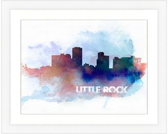 Vintage Print Gallery Little Rock Skyline Framed Graphic Art