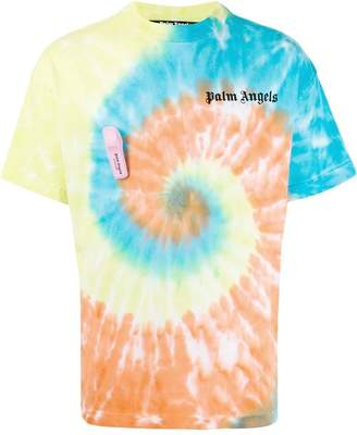 Palm Angels multicolored tie-dye t-shirt