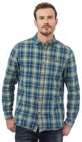 Mantaray Green Button Down Check Print Shirt