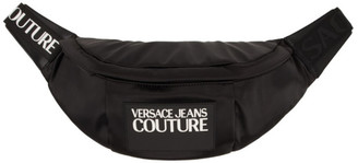 Versace Black Logo Bum Bag