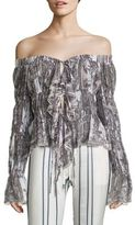 Roberto Cavalli Off-The-Shoulder Printed Top