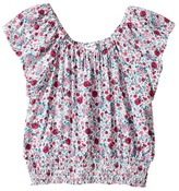 Splendid Littles Off the Shoulder Printed Top Girl's Clothing