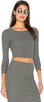 Bella Luxx Plush Rib Long Sleeve Crop Top