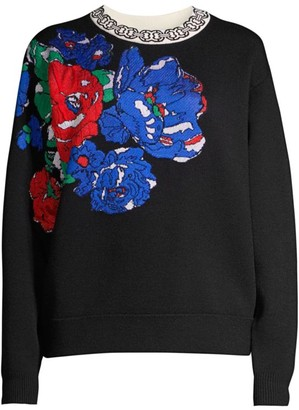 Tory Burch Floral Oversized Sweater
