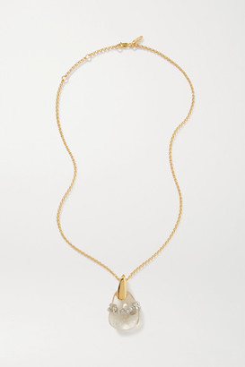 Chloé Gold-tone, Quartz And Crystal Necklace - One size