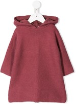 Bonpoint hooded knitted dress