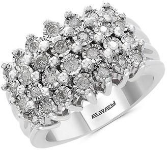 Effy Sterling Silver Diamond Band Ring