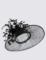 M&S Collection Floral Straw Fascinator
