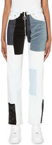 Off-White Patchwork slim-fit high-rise jeans