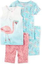Carter's 4-Pc. Flamingo Cotton Pajama Set, Toddler Girls (2T-5T)