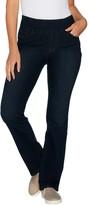 Denim & Co. Perfect Denim Petite Smooth Waist Lightly Bootcut Jeans
