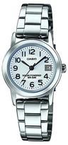 Casio Women's Solar-Powered Easy Reader Bracelet Watch Silver (LTPS100D-7BVCF