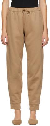 Totême SSENSE Exclusive Beige Silk Lounge Pants