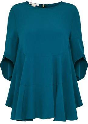 Antonio Berardi Fluted Crepe Blouse
