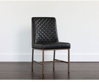 Red Barrel Studioâ® Bruns Upholstered Dining Chair (Set of 2) Red Barrel StudioA Upholstery Color: Black