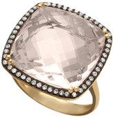 Clear Square Quartz Ring