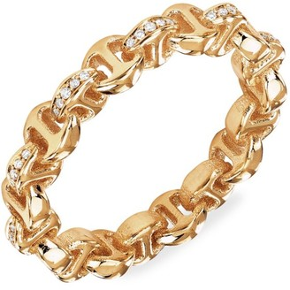 Hoorsenbuhs Strut Tri-Link 18K Yellow Gold & Diamond Ring